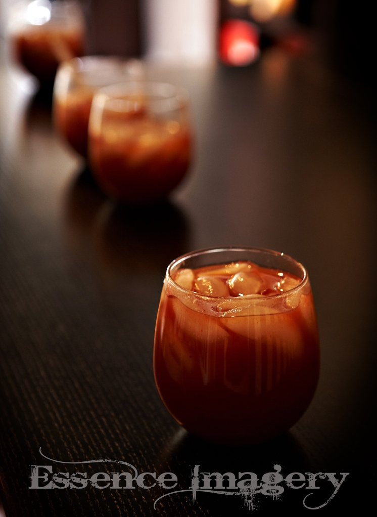 Bloody Mary's a la wine glasses